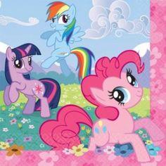 16 My Little Pony Lunch Size Napkins.