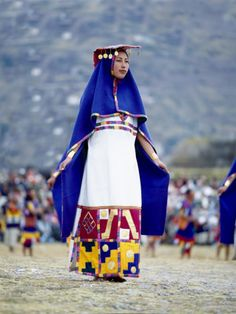 Woman in Costume for Inti Raimi Festival of the Incas, Cusco, Peru. Look at that skirt! Beautiful.