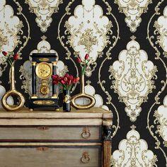 JZ·HOME JZ27 Luxury Damask Wallpaper Rolls,20.8