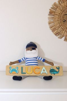Wooden Name Puzzle - Sea Animal Birthday - Baby Boy Ocean themed Personalized Puzzle - Girl Gift - Sea Creatures - Woodily Toys / ss24. Our Personalized ocean themed name puzzles are designed to fuel imagination, inspire exploration and encourage the natural curiosity that leads to a lifetime of learning. #babygift #woodtoy