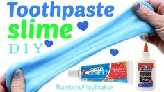 DIY TOOTHPASTE SLIME!!!! ONLY 2 INGREDIENTS!! INSPIRED BY CRAFTYGIRLS :)