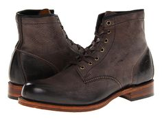 Frye Arkansas Mid Leather Brown Soft Pebbled Full Grain - Zappos.com Free Shipping BOTH Ways