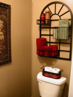 Over Toilet Storage Design, Pictures, Remodel, Decor and Ideas - page 3 Bathroom Storage Over Toilet, Toilet Storage, Bath Storage, Downstairs Bathroom, Paper Storage, Bathroom Rack, Toilet Room, Desk Storage, Bathroom Towels