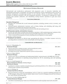 Resume For General Manager After Sales Support   Performance Professional  Catering Sales Manager Resume