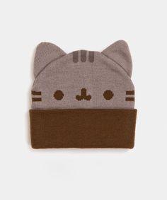 Pusheen cozy knit hat