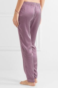 Paloma Blue - Venice Printed Silk-satin Pants - Magenta -