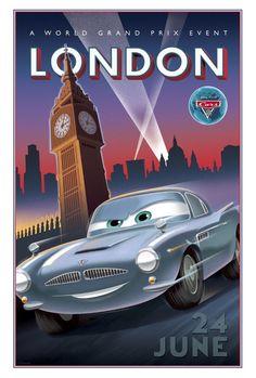 Cars 2 - Disney/Pixar London poster