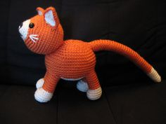 Im just smitten with this cute crochet kitten!  This pattern is based on my cat, Fred, who I adopted as a stray, a very particular little guy. A