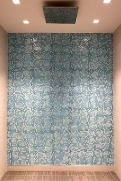 Tiny Mosaic Tiles. Perfect wall texture & pattern   111 Fulton St Pool Renovation #badassdesign   via @meandgeneral