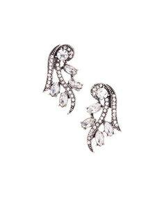 Loving this Smoke Rhinestone Deco Drop Earrings - Plus on #zulily! #zulilyfinds