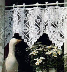 TRI CRO DA TUKA: bandô cortina/crochê