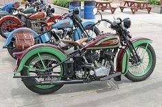 #Vintage #HarleyDavidson #motorcycle #LineUp #LetsGetWordy