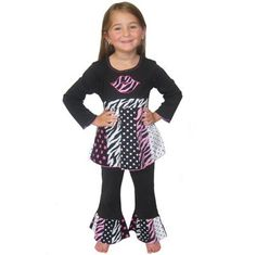 New Girls Kids Clothing Baby doll top & Pants