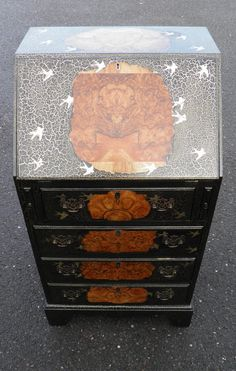 Pretty Vintage Decorative Fall Flap Desk / Bureau