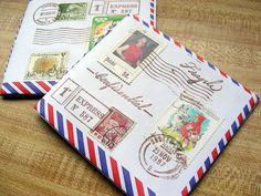 airmail notebooks (curbsidetreasure flickr) http://curbside-treasure.blogspot.com/