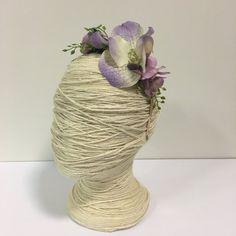 Pastel Mauve Orchids Fern Flower Crown / Floral Wreath Side