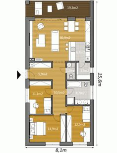 House Layout Design, House Layouts, Build My Own House, My House, Architectural Floor Plans, Small House Floor Plans, Diy Home Cleaning, Cottage Plan, Bedroom House Plans