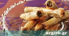 Cigarillos baklava with pistachios Greek Recipes, Desert Recipes, Greek Sweets, Greek Cooking, Spanakopita, Confectionery, Sweet Tooth, Deserts, Food And Drink