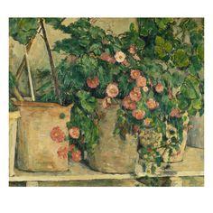 Still Life with Petunias, about 1885 Giclée-tryk af Paul Cézanne
