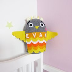 Personalised Toy: Plush Owl Toy. £15.00, via Etsy.