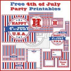 Free Full Set of 4th of July Party Printables