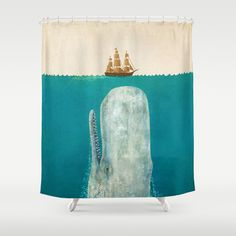 The+Whale++Shower+Curtain+by+Terry+Fan+-+$68.00