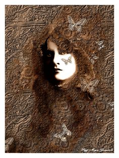 Maude Fealy Portrait Surreal Altered Fine Art by AJoyfulStudio, $20.00