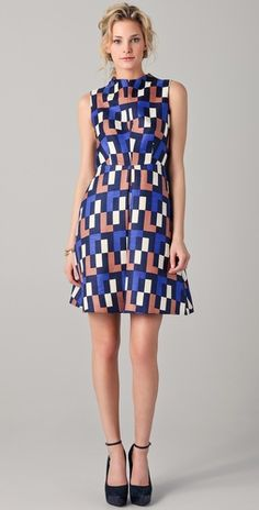 The shape of this dress is beautiful, but then add the 60s print and wow. Sincerely, Biddy Craft
