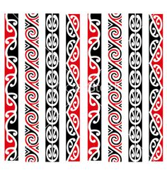 Maori Kowhaiwhai Pattern Design Collection vector image on VectorStock Maori Designs, Corel X7, Crown Clip Art, Maori Symbols, Maori Patterns, Polynesian Art, Celtic Tattoos, Maori Tattoos, Nz Art