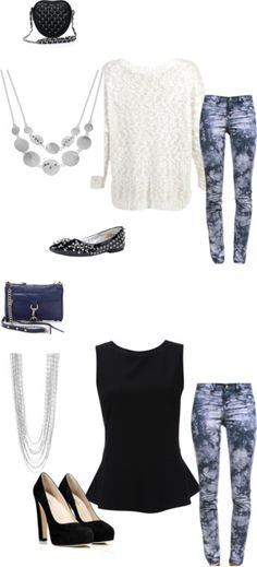 """""""Tie Dye Jeans: Day to Night"""" by mara-salter on Polyvore"""