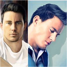 Check out these incredible digital drawings of Channing Tatum from deviantART.com user TomsGG [http://tomsgg.deviantart.com/]!