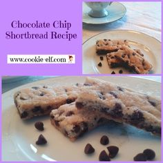 Chocolate Chip Shortbread Recipe: ingredients, directions, and a special tip from The Elf to make delicious Chocolate Chip Shortbread. Baking Recipes, Cookie Recipes, Healthy Recipes, Bar Cookies, Cookie Bars, Shortbread Recipes, Recipe Ingredients, Delicious Chocolate, Christmas Baking