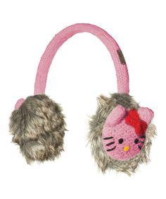 Loving this Pink Hello Kitty Wool Earmuffs on #zulily! #zulilyfinds