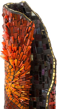 HYBRID detail Glass over hand formed sculpture Image by HONEphotography
