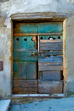 old rugged door