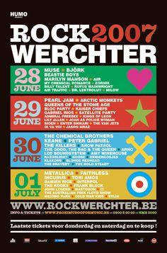 Affiche 2007 - Rock Werchter #RW07
