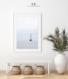 Photography art print of a three-masted sailing ship moored in the Mediterranean on a calm and quiet summer evening | Framed and unframed prints in sizes from small to large | Professionally printed on acid-free fine art cotton rag paper with archival ink and guaranteed to last for more than a lifetime without fading or loss of color. See more at www.ccoylephotography.com Large Prints, Fine Art Prints, Framed Prints, Framing Photography, Art Photography, Mint Door, Sunset Surf, Nautical Art, Beach Wall Art