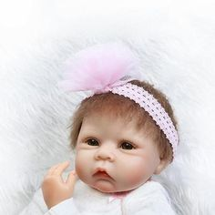 "22"" Handmade Lifelike Baby Girl Doll Silicone Vinyl Reborn Newborn Dolls toys"
