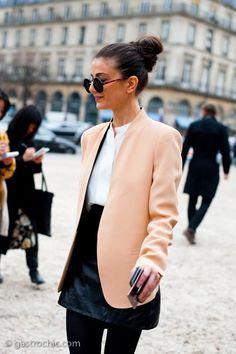 peachy keen. #NataliaAlaverdian in Paris.