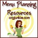 Meal Planning Resources        My App                                        Recent Posts  My Favorite Organizing Links ~ add yours too!  Menu Plan Monday ~ Jan 16/12  Kitchen Organizing  Storage and Organizing Magazines – Oh My! + giveaway! (closed)  Kodak Pulse ~ my favorite digital picture frame!            Search for:     Categories    Archives