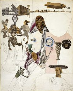Collage of the Week | Edward Burra, Collage 1930