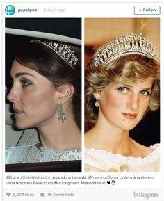 Catherine Duchess of Cambridge Pays Tribute to Princess Diana Through Tiara Handbag Photo (C) Instagram