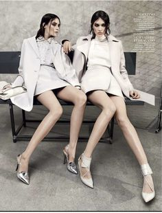 visual optimism; fashion editorials, shows, campaigns & more!: irina nikolaeva and patrycja gardygajlo by jason kibbler for vogue russia august 2013