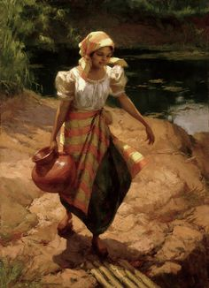 """Fernando Amorsolo y Cueto, Filipino painter, was an important influence on contemporary Filipino art and artists, even beyond the so-called """"Amorsolo school"""". Subjects: Philippine Genre, historical and society Portraits. Arte Filipino, Filipino Culture, Filipino House, Cultura Filipina, Philippines Culture, Philippines Dress, Manila Philippines, Munier, Philippine Art"""