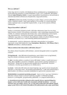 Hogyan reklámozza vállalkozását QR kódokon keresztül ? http://www.slideshare.net/ZsoltPasztor/mi-is-az-a-qr-kd