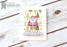by Stephanie Gold for Lil Inker Designs Moody Santa Rustic Christmas - Golden Simplicity Rustic Christmas, Christmas Cards, Creative Cards, Homemade Cards, Card Ideas, Card Making, Santa, Tags, Winter