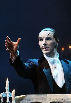 Benedict as the Phantom from Phantom of the Opera by Cumberbum