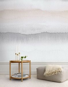 Painting Your Walls With Watercolors - 25 Ideas Home Decor Colors, Wall Colors, Paint Colors, Home Decor Bedroom, Room Decor, Bedroom Ideas, Master Bedroom, Creative Walls, Creative Design