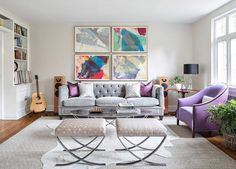 Modern and sophisticated living room | Wayfair