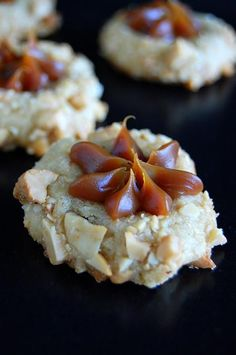 Dulce de Leche Cashew Thumbprint Cookie